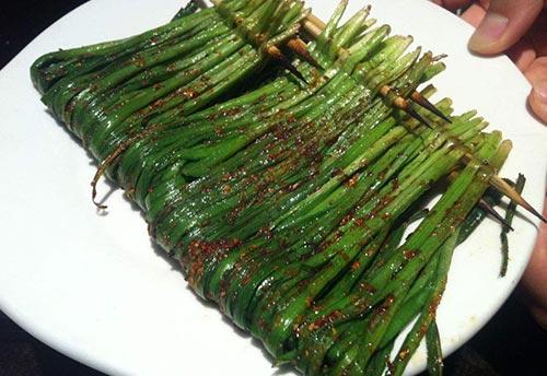 四川烤韭菜